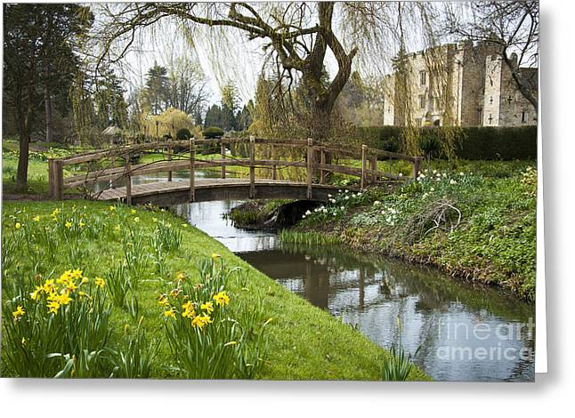 Heaver Castle In Spring Greeting Card by Donald Davis