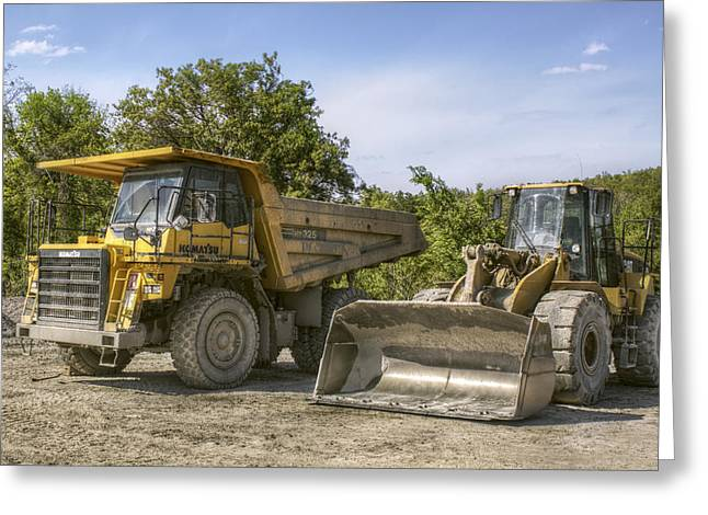 Heavy Equipment - Komatsu - Cat Greeting Card