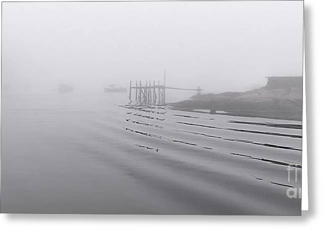 Heavy Fog And Gentle Ripples Greeting Card