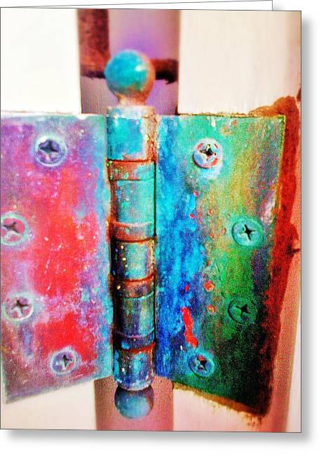 Heavy Hinges Greeting Card by Olivier Calas