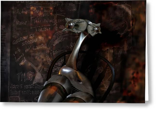 Greeting Card featuring the digital art Heavy Metal Girl by Kim Gauge