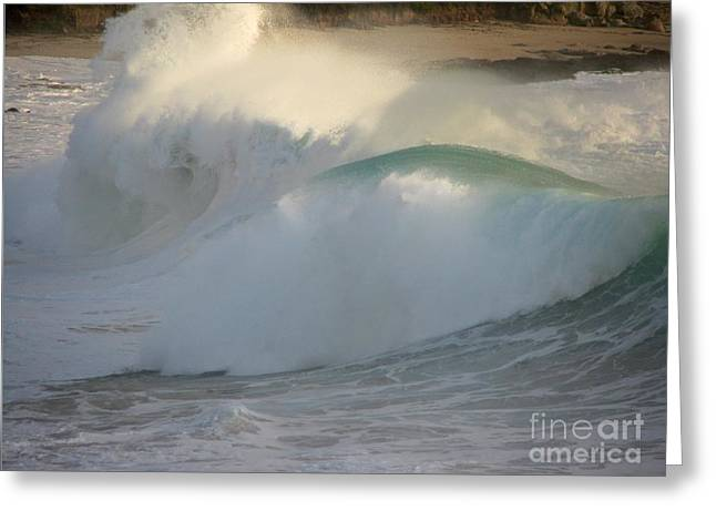 Greeting Card featuring the photograph Heavy Surf At Carmel River Beach by James B Toy