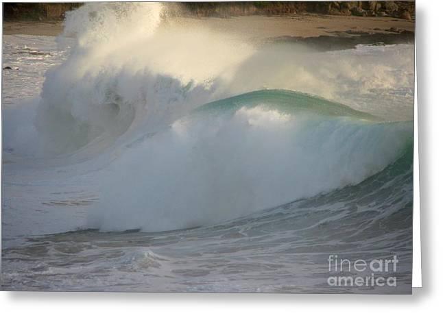 Heavy Surf At Carmel River Beach Greeting Card