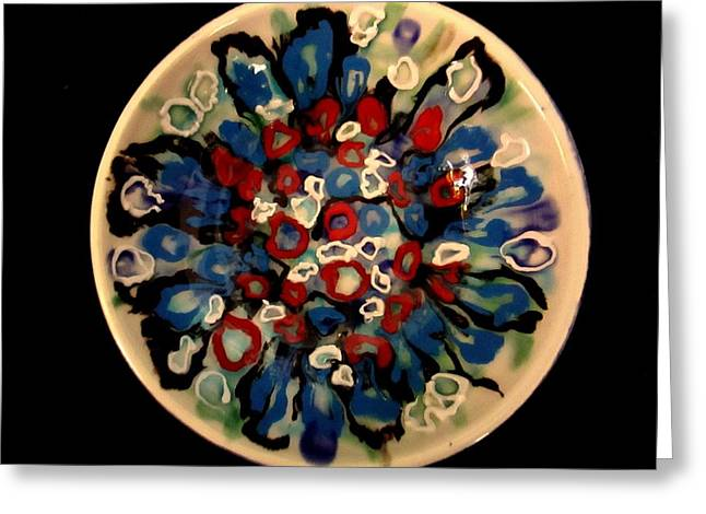 Heavy Textured Bowl Greeting Card by Martha Nelson