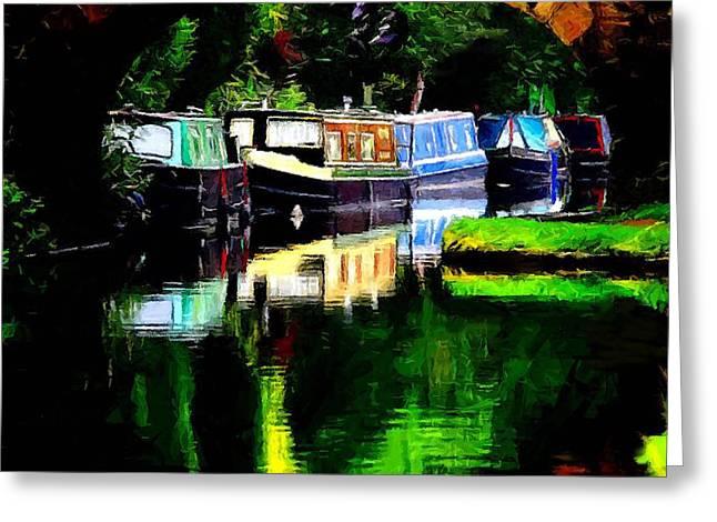 Hebden Bridge Canal Greeting Card
