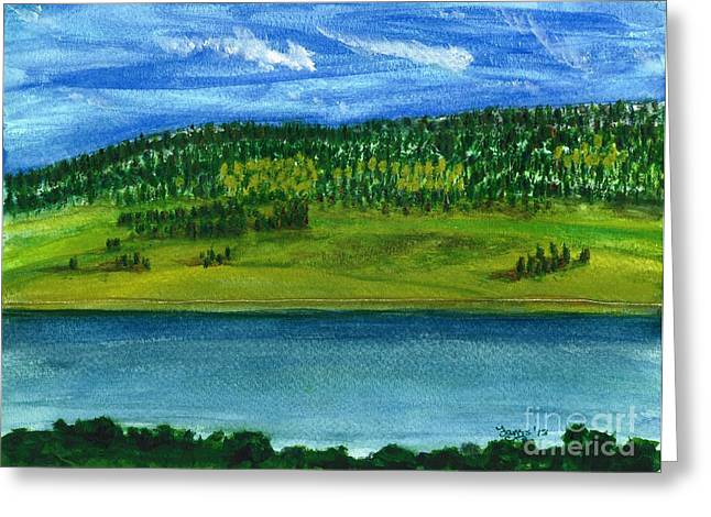 Hebgon Lake 2 Greeting Card by Larry Farris