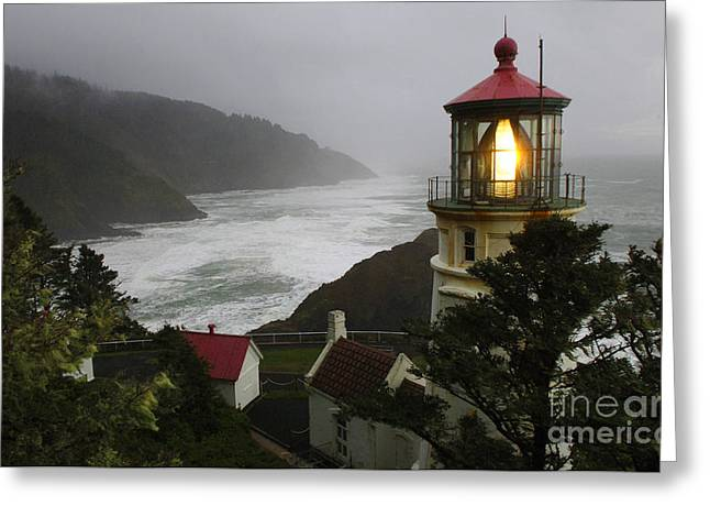 Heceta Head Lighthouse 1 Greeting Card