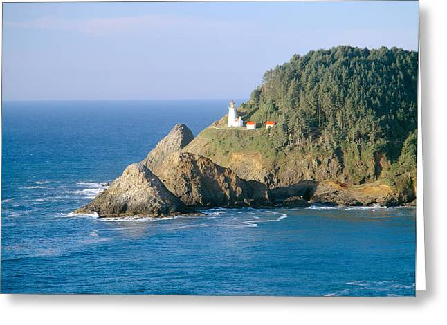 Heceta Lighthouse, Oregon Greeting Card by Panoramic Images