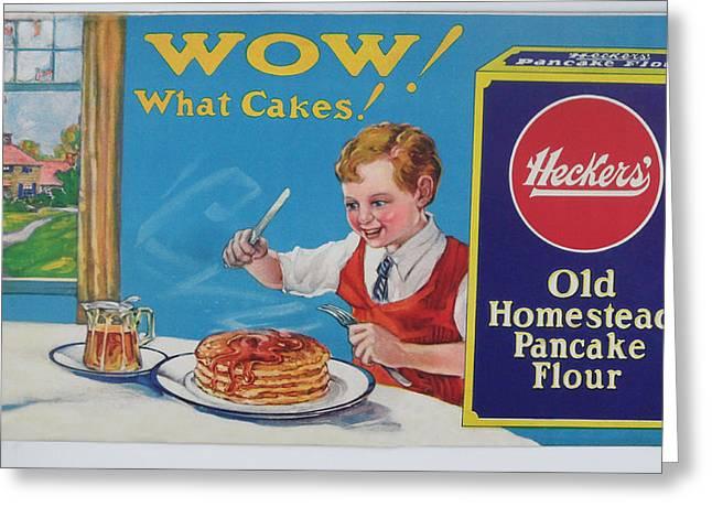 Heckers' Old Homestead Pancake Flour Greeting Card