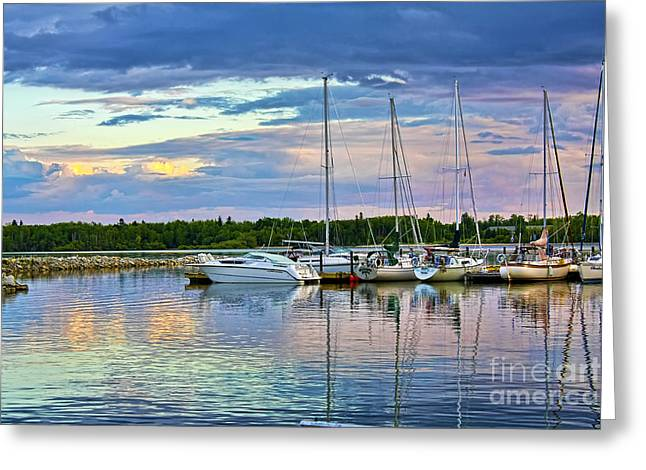 Hecla Island Boats II Greeting Card by Teresa Zieba