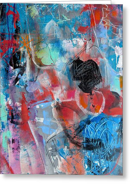 Greeting Card featuring the painting Hectic by Katie Black