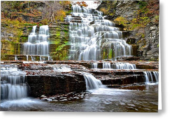Hector Falls Greeting Card by Frozen in Time Fine Art Photography