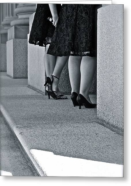 Heels And Lace Greeting Card