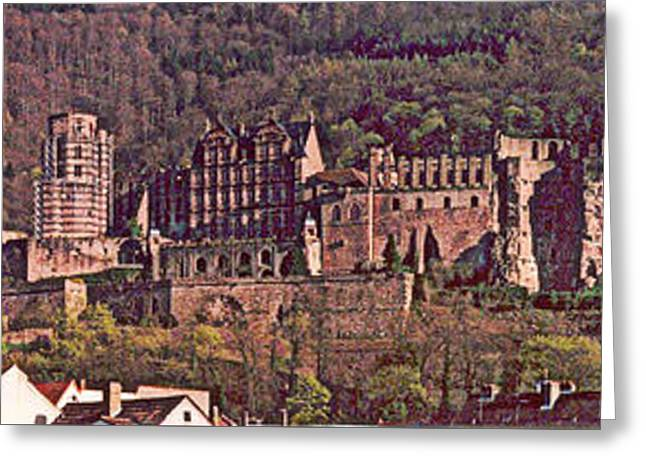 Heidelberg Castle And Arches Greeting Card by Kimo Fernandez
