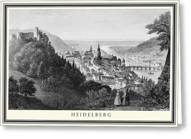 Heidelberg Etching Greeting Card