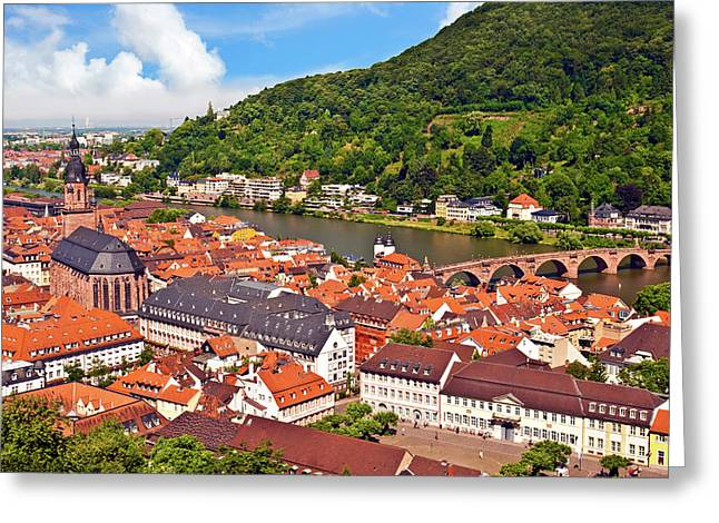 Heidelberg, Germany, A View Of The City Greeting Card by Miva Stock