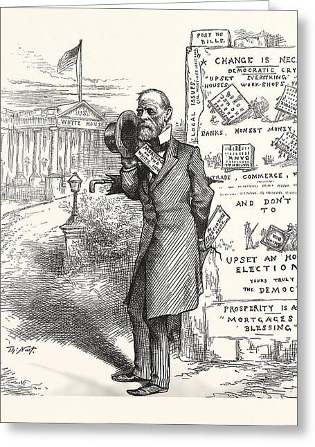 Height Of English Ambition, Engraving 1880, Us, Usa, America Greeting Card
