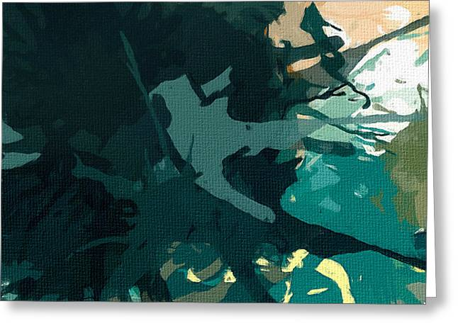 Seafoam Abstract Greeting Cards - Heightened Energy Greeting Card by Lourry Legarde