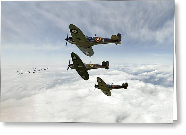 Heinkel Hunting  Greeting Card by J Biggadike