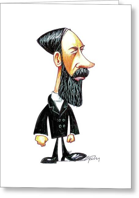 Heinrich Hertz Greeting Card by Gary Brown