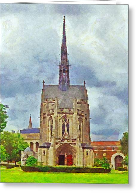 Heinz Chapel Greeting Card by Digital Photographic Arts