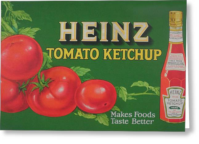 Heinz Tomato Ketchup Greeting Card by Woodson Savage