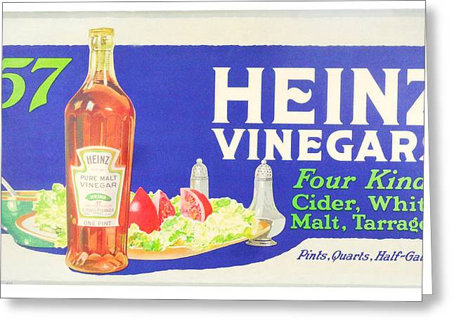 Heinz Vinegars Greeting Card by Woodson Savage
