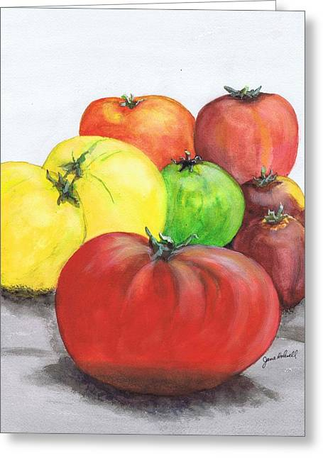 Heirloom Tomatoes Greeting Card by June Holwell