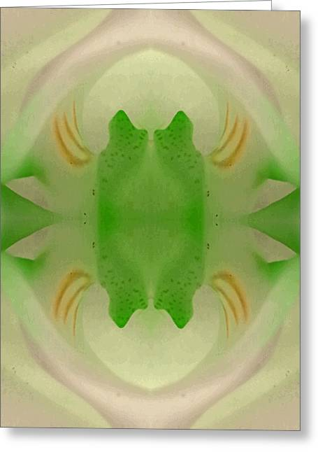 Held Within The Zeropoint. Greeting Card by Marie-Louise Svensson