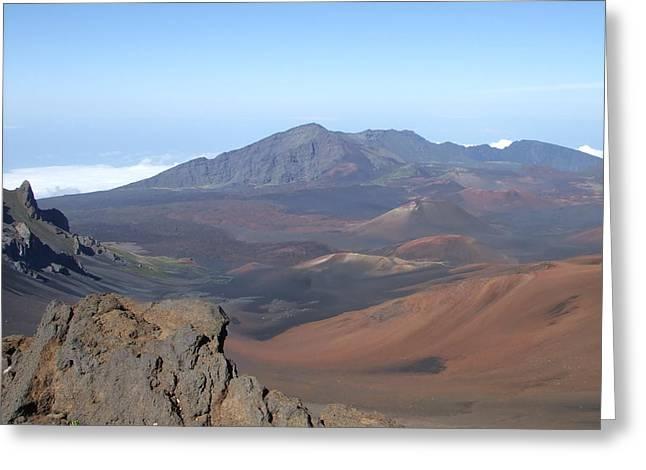 Heleakala Volcano In Maui Greeting Card by Richard Reeve