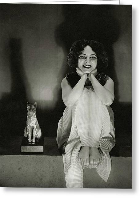 Helen Hayes As Cleopatra Greeting Card by Edward Steichen