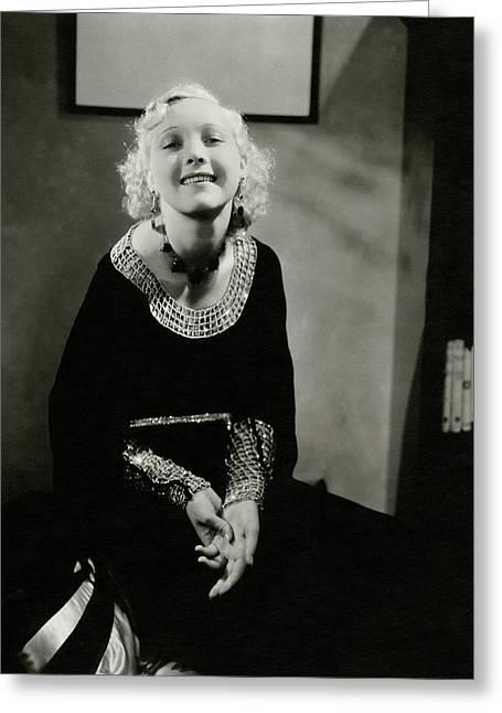 Helen Twelvetrees Greeting Card by Edward Steichen