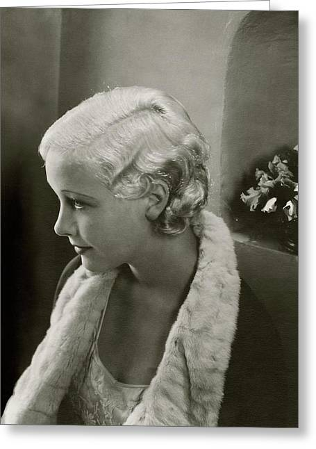 Helen Twelvetrees In Bedtime Story Greeting Card by Edward Steichen
