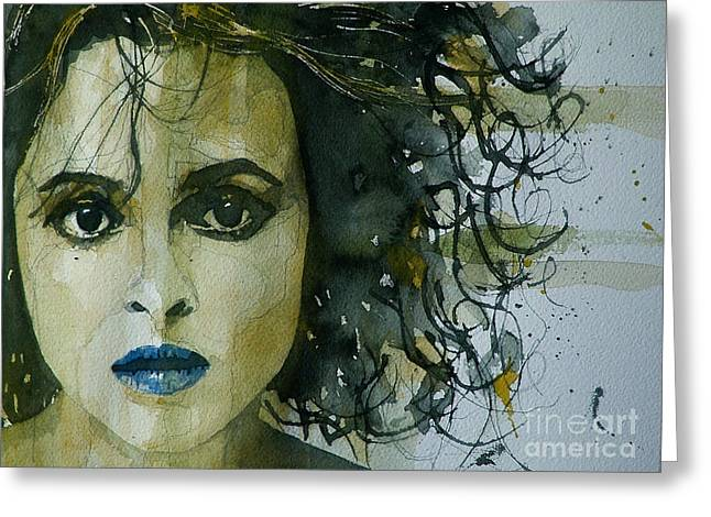 Helena Bonham Carter Greeting Card by Paul Lovering