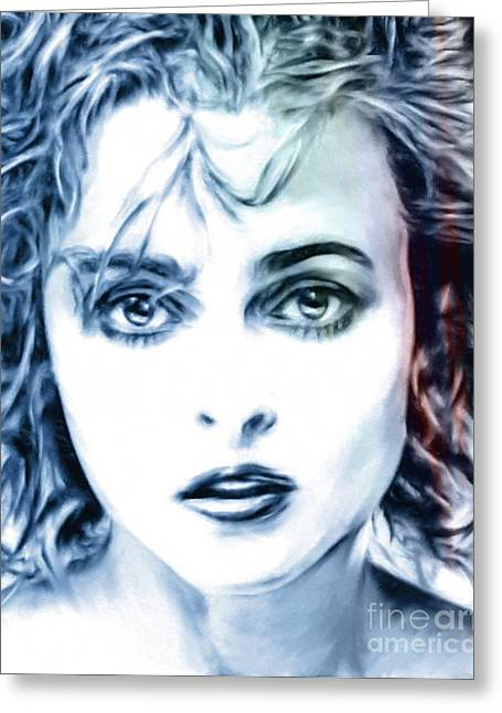 Helena Bonham-carter Greeting Card by Wu Wei