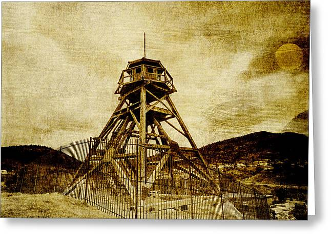 Helena-montana-fire Tower Greeting Card