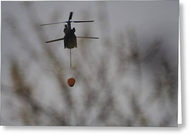Helicopter Fire Intervention 1 Greeting Card by SC Heffner