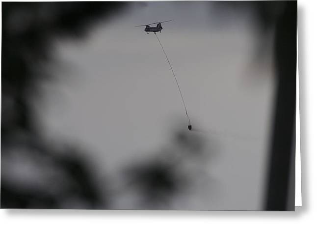 Helicopter Intervention 2 Greeting Card by SC Heffner