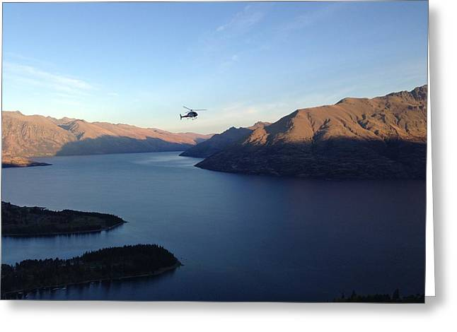 Helicopter Greeting Card by Ron Torborg