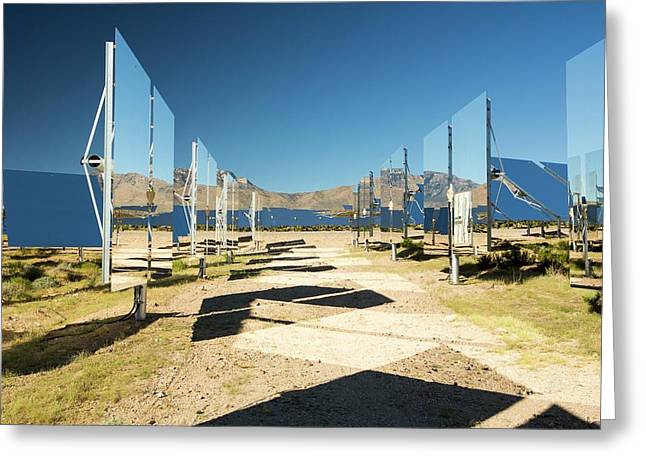 Heliostats At The Ivanpah Solar Greeting Card by Ashley Cooper