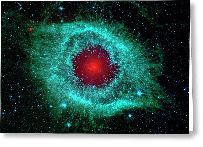 Helix Nebula Greeting Card by Nasa/jpl-caltech/univ.of Ariz.