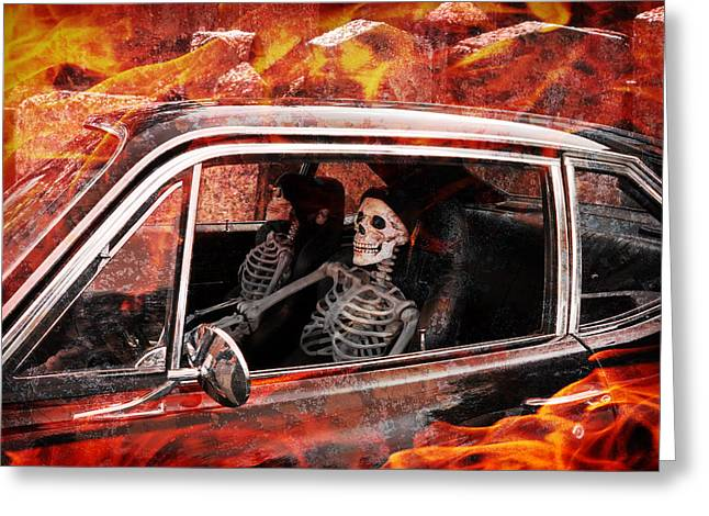 Greeting Card featuring the digital art Hell Drive by Richard Farrington