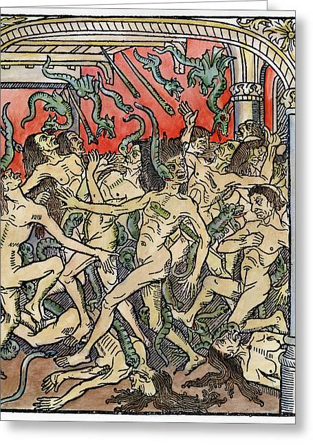 Hell Seven Deadly Sins Greeting Card