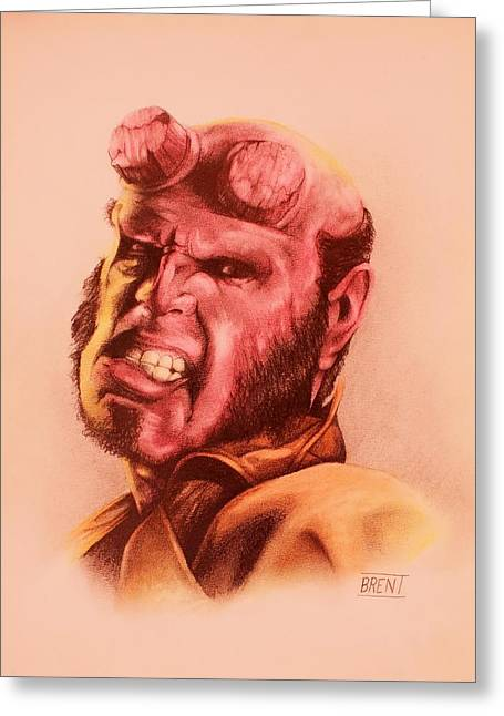 Hellboy Greeting Card