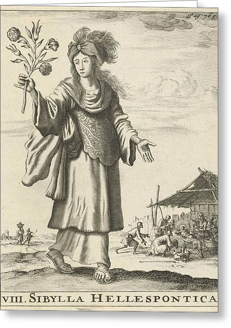 Hellespontic Sibyl, Jan Luyken, Timotheus Ten Hoorn Greeting Card by Jan Luyken And Timotheus Ten Hoorn