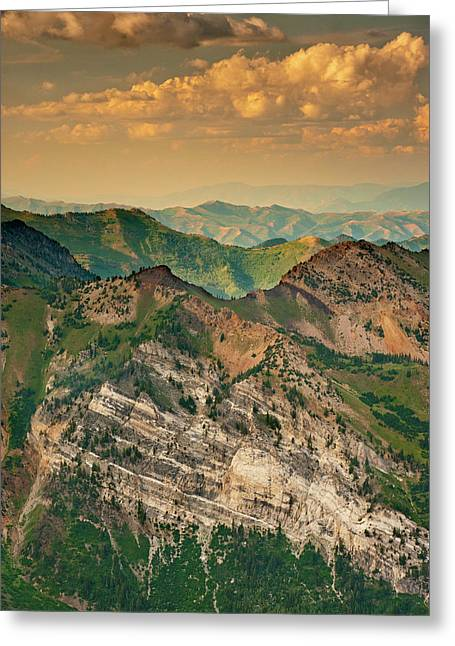 Hellgate Cliffs From Top Of Snowbird Greeting Card by Howie Garber