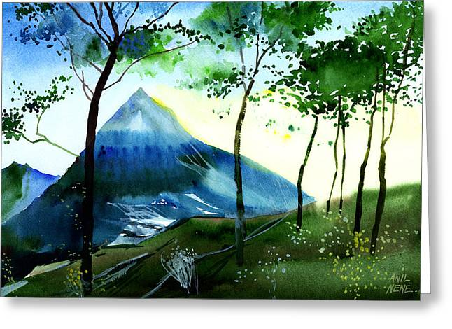 Hello Greeting Card by Anil Nene