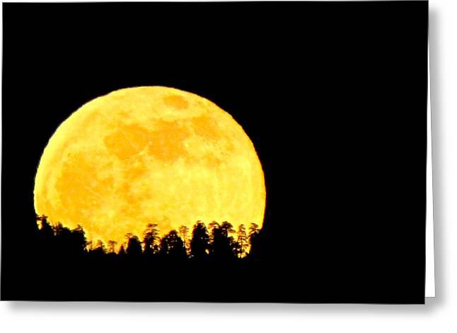 Hello Moon Greeting Card by Feva  Fotos