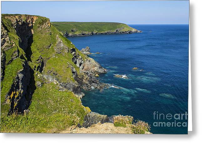 Photographs Of Cornwall Hells Mouth Cornwall Greeting Card by Brian Roscorla