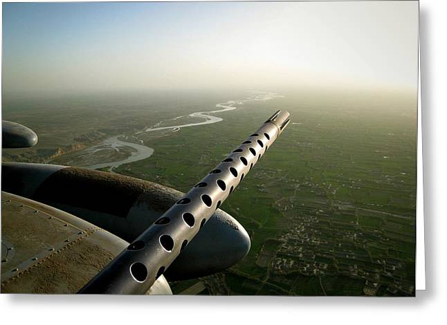 Helmand River Valley From The Air Greeting Card